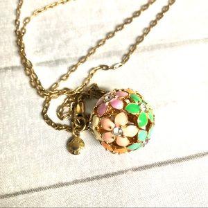 J. Crew Multi Colored Floral Pendant Necklace